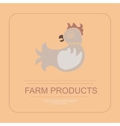 Hen in flat design vector