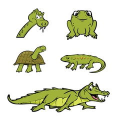 reptiles collection vector image