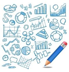Charts And Diagrams Sketch vector image