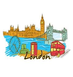 london doodles vector image vector image