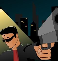 Night robbery vector image