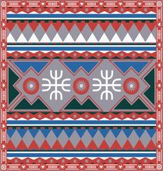 ornamental color winter design vector image vector image