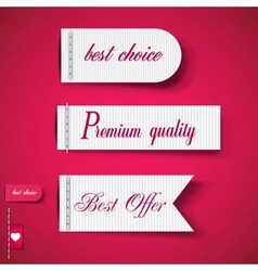Set of Red Superior Quality and Satisfaction vector image vector image