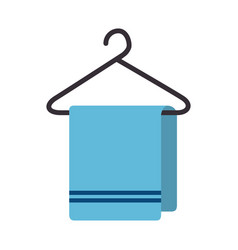 towel hanging isolated icon vector image
