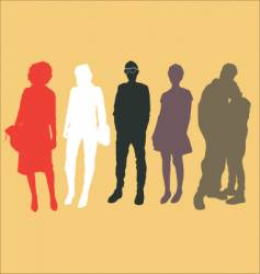 urban people vector image