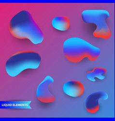 abstract liquid shapes collection modern vector image