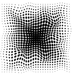 abstrat halftone black dots pattern on white vector image