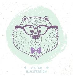 bear cute vector image