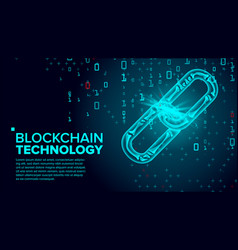 blockchain global network technology vector image