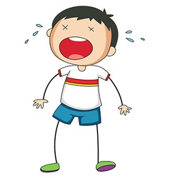 Boy crying vector image