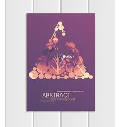 Brochure a5 or a4 format abstract circles vector