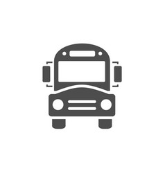 Bus school icon on a white background vector