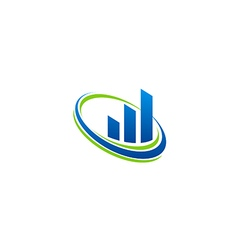 business finance chart technology blue logo vector image