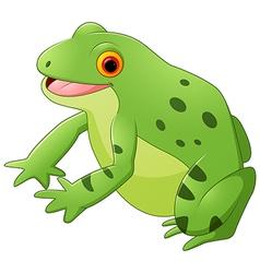 Cartoon happy frog vector