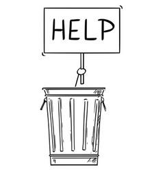 Cartoon homeless man or businessman hidden or vector