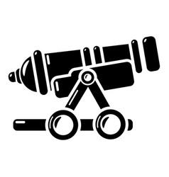 Coastal cannon icon simple style vector