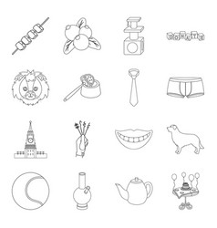 cooking history travel and other web icon in vector image