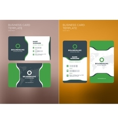 Corporate Business Card Print Template Vertical vector