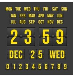 Countdown Timer and Date Calendar Scoreboard vector image