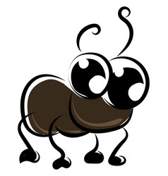 cute cockroach on white background vector image