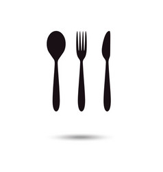 cutlery icon restaurant signs spoon fork and vector image