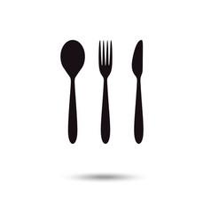Cutlery icon restaurant signs spoon fork vector