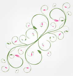 Delicate background of whorls decorative elements vector