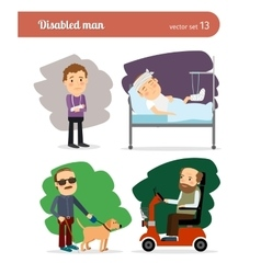 Disabled persons vector image