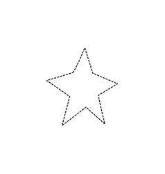 Dotted shape shiny star decoration design vector