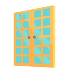 Double room door icon cartoon style vector image