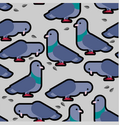 dove pattern pigeon seamless background vector image