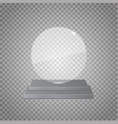 Empty glass trophy awards on transparent vector