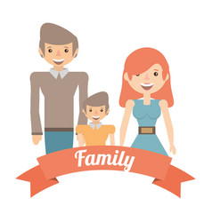 family dad and mom son lifestyle image vector image