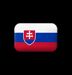 Flag of slovakia matted icon and button vector