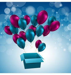 for birthday balloons vector image