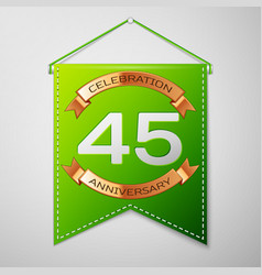 forty five years anniversary celebration design vector image