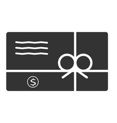 Gift card icon in trendy flat style on white vector