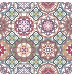 Gorgeous floral tile design vector image