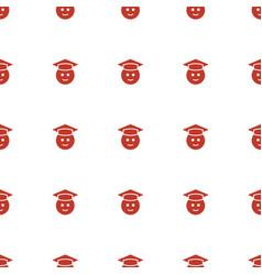 graduate emoji icon pattern seamless white vector image