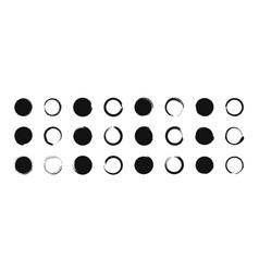 grunge black circle brush round shape frame vector image