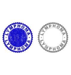 Grunge lymphoma textured watermarks vector