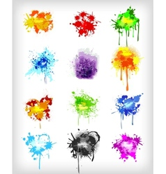 Grungy design colorful elements set vector