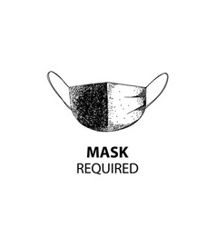 hand drawn medical or surgical face mask vector image