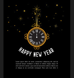 happy new year 2019 greeting card new year vector image