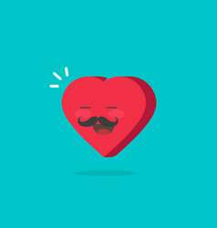heart character with happy face vector image
