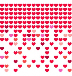 heart mosaic background vector image vector image