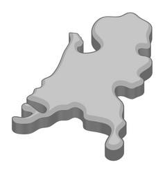 Holland map icon monochrome vector