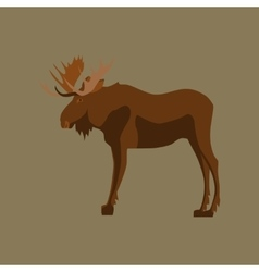 In flat style elk vector
