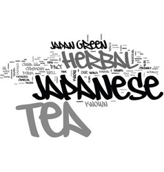Japanese herbal tea text background word cloud vector