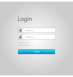 login interface - username and password vector image